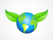 Abstract eco globe with leaf Stock Image