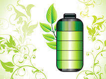 Abstract eco green battery background Stock Photos