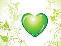 Abstract eco green heart bin icon Stock Photos