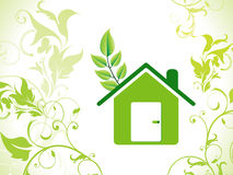 Abstract eco green home background Stock Photo