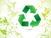 Abstract eco green recycle icon Royalty Free Stock Image