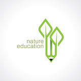 Abstract eco green shape, nature concept. On white background Royalty Free Stock Photo