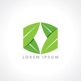 Abstract eco green shape, nature concept Royalty Free Stock Photography