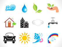 Abstract eco icon Royalty Free Stock Photo