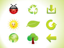 Abstract eco icon set Stock Photography