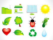 Abstract eco icon set Stock Image