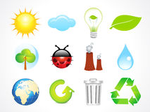 Abstract eco icons Stock Photo
