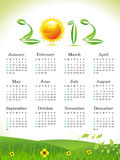 Abstract eco leaf calender. Vector illustration royalty free illustration