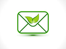 Abstract eco mail icon Stock Photos