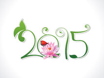 Abstract eco nature new year text. Vector illustration stock illustration