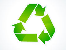 Abstract eco recycle icon Royalty Free Stock Photo