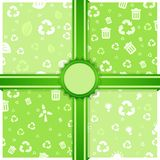 Abstract eco seamless patterns Royalty Free Stock Photography