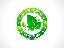 Abstract eco vriendschappelijk pictogram Royalty-vrije Stock Afbeeldingen