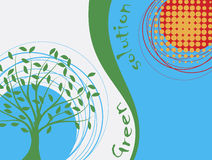 Abstract ecological background. Vector illustration Royalty Free Stock Images