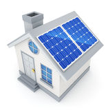 Abstract Ecological small home and solar panel Royalty Free Stock Photo
