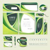 Abstract ecology design for corporate identity Royalty Free Stock Images