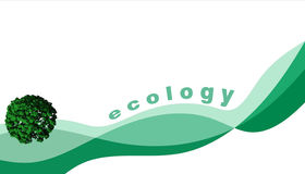 Abstract ecology illustration. Abstract 3D ecology illustration over white background Royalty Free Stock Image