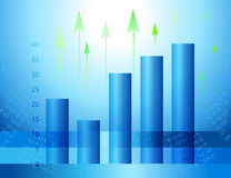 Abstract economic background. Graphs and figures showing an increase. Abstract economic charts Stock Photos