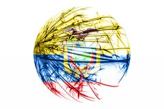 Abstract Ecuador sparkling flag, Christmas ball concept isolated on white background. Abstract Ecuador sparkling flag, Christmas ball concept isolated on white stock illustration
