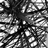 Abstract edgy, geometric vector art, monochrome angular illustra Stock Photo