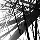 Abstract edgy, geometric vector art, monochrome angular illustra Royalty Free Stock Photos