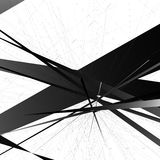 Abstract edgy, geometric vector art, monochrome angular illustra Stock Photography