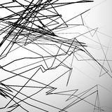 Abstract edgy lines artistic grayscale background. Abstract edgy, angular lines artistic black and white background - Random dynamic lines. - Royalty free vector Stock Photography
