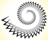 Abstract edgy spiral, volute with triangular shapes Royalty Free Stock Image