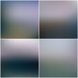 Abstract editable blurred backgrounds set Royalty Free Stock Photo