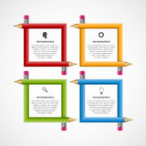 Abstract education pencil option Infographics design template. Stock Photography