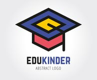 Abstract education vector logo template for Royalty Free Stock Images