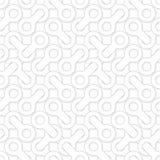 Abstract eenvoudig geometrisch vectorpatroon - ineengestrengelde vormen op wh Stock Foto
