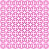 Abstract eenvoudig roze bloemenpatroon De achtergrond van de bloemblaadjetextuur Naadloze vector Royalty-vrije Stock Foto