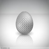 Abstract egg. Abstract chrome egg for easter Royalty Free Stock Images