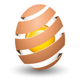 Abstract egg with yolk Royalty Free Stock Images