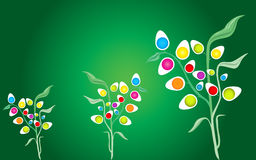 Abstract eggs plants background Stock Photo
