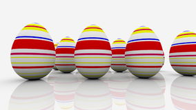 Abstract eggs on white stock footage