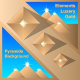 Abstract Egiptian Pyramids Background royalty free illustration