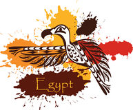 Abstract egyptian bird symbol Royalty Free Stock Photo
