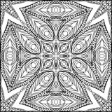 Abstract Egyptian Cross Zentangle Style Black And White Ornament Royalty Free Stock Image