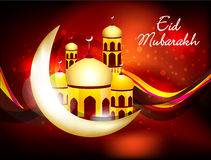 Abstract eid background with sparkle Stock Images