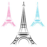 Abstract Eiffel Tower Royalty Free Stock Images