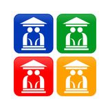 Abstract Elder House Icons. Vector Graphic Design stock illustration