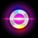 Abstract electric circle button Royalty Free Stock Images