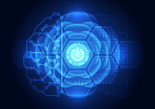 Abstract electric circuit digital brain,technology concept Royalty Free Stock Photography