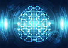 Abstract electric circuit digital brain,technology concept. Innovation Royalty Free Stock Photography