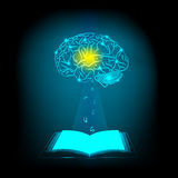 Abstract electric circuit open book. Brain concept Stock Photo