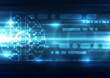 Abstract electric digital brain,technology concept. Innovation Royalty Free Stock Photos