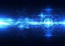 Abstract electric digital brain,technology concept. Innovation Stock Photo