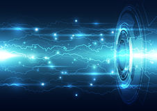 Abstract electric digital technology, concept background Royalty Free Stock Images